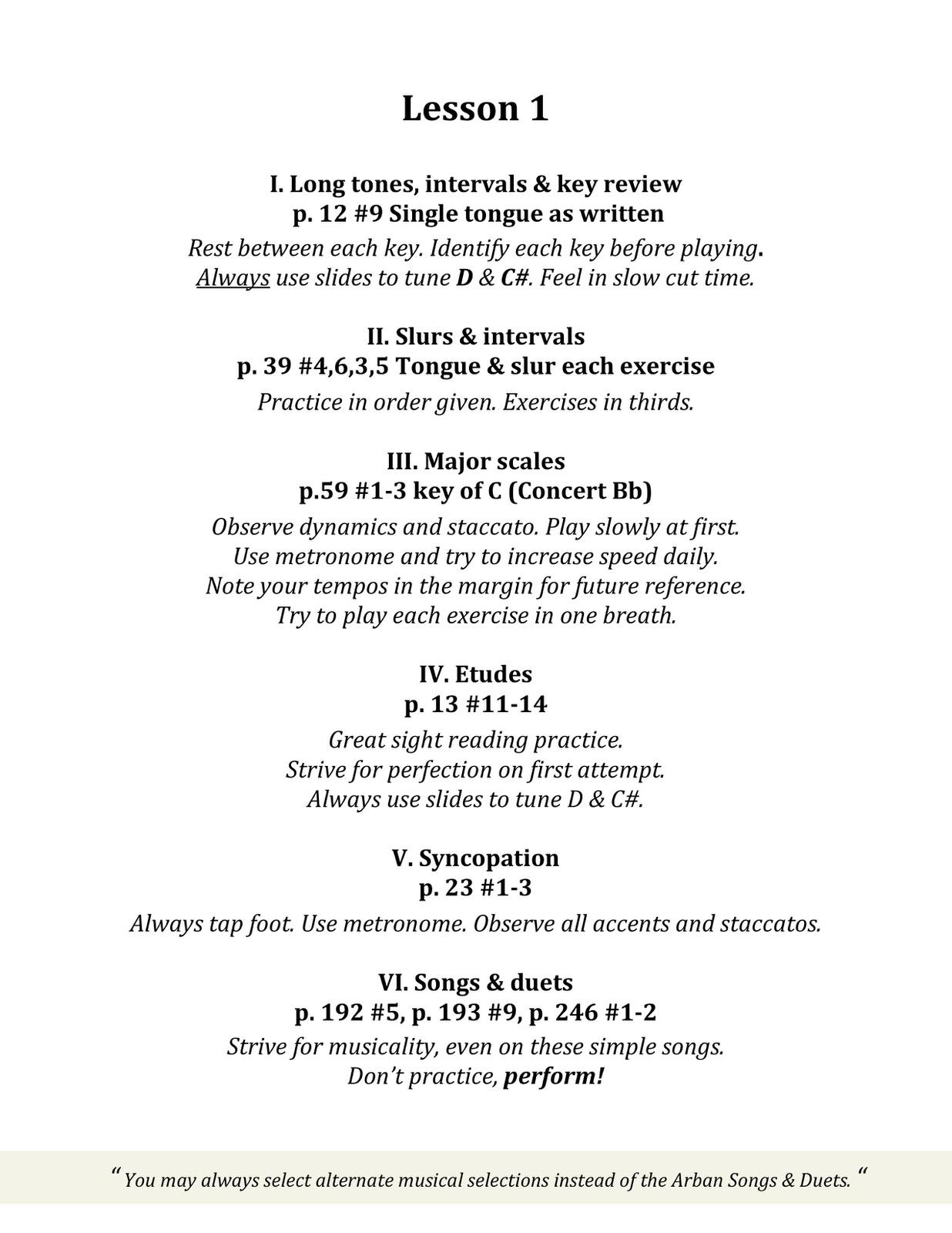 Arban Manual Eric Bolvin Trumpet Sample