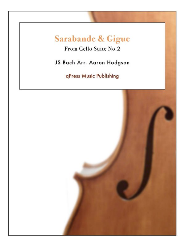 Bach, Sarabande & Gigue (Hodgson)-p1