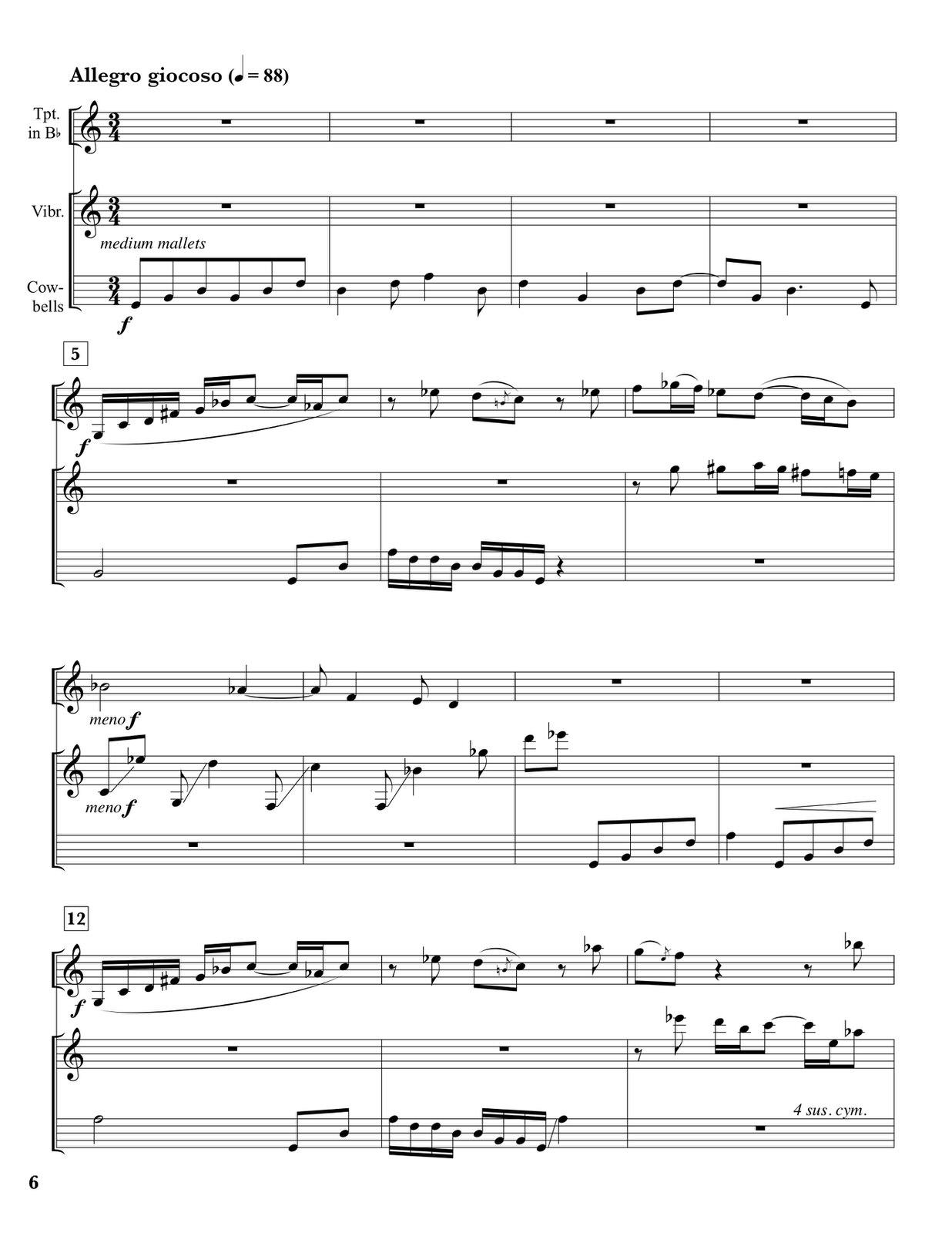 Loeb, David Certovka for Trumpet and Percussion