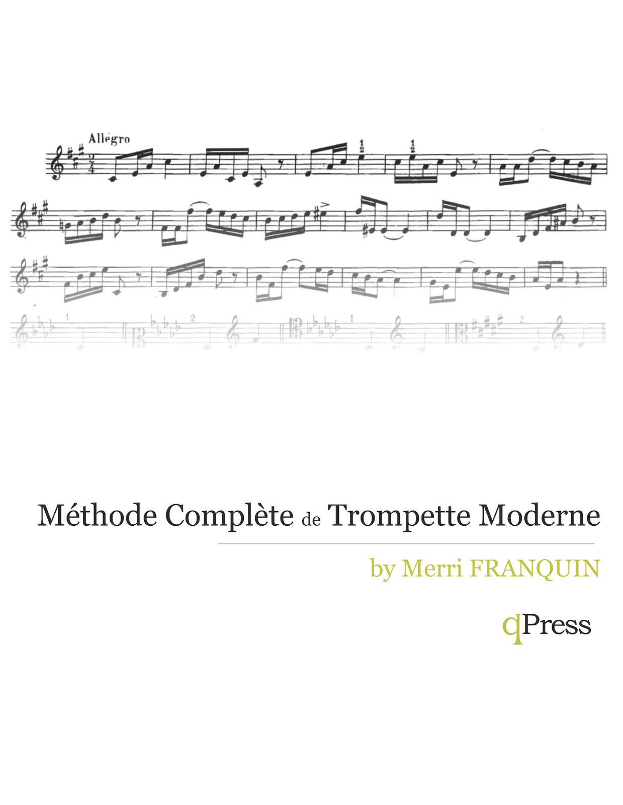m 233 thode compl 232 te de trompette moderne by franquin merri qpress