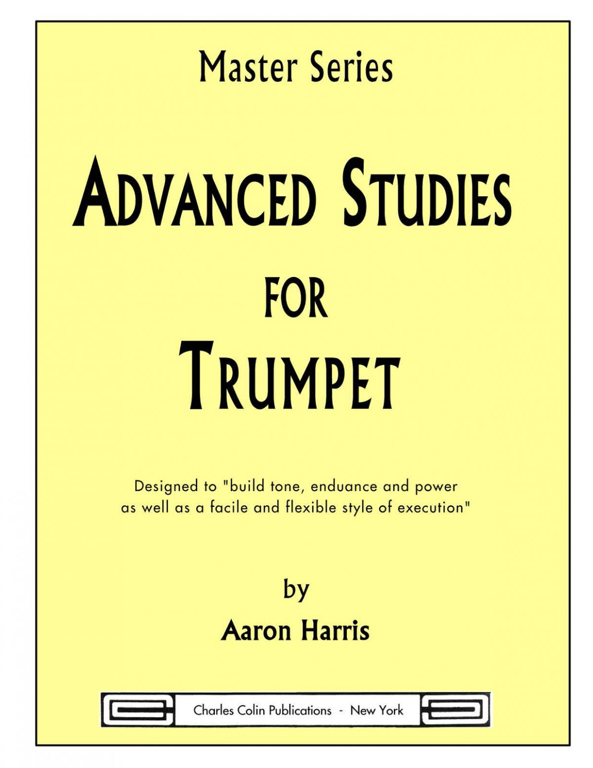 Harris, Aaron Advanced Studies For Trumpet