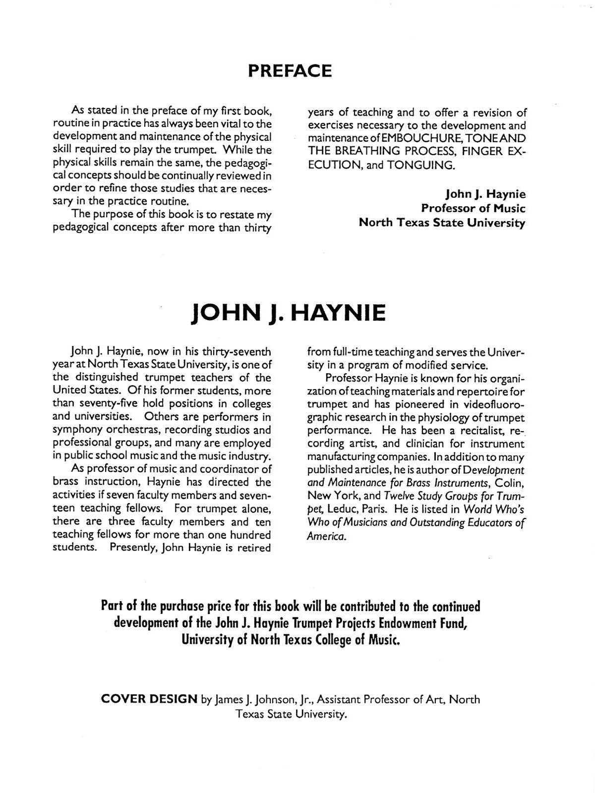 Haynie, High Notes & Low Notes PDF