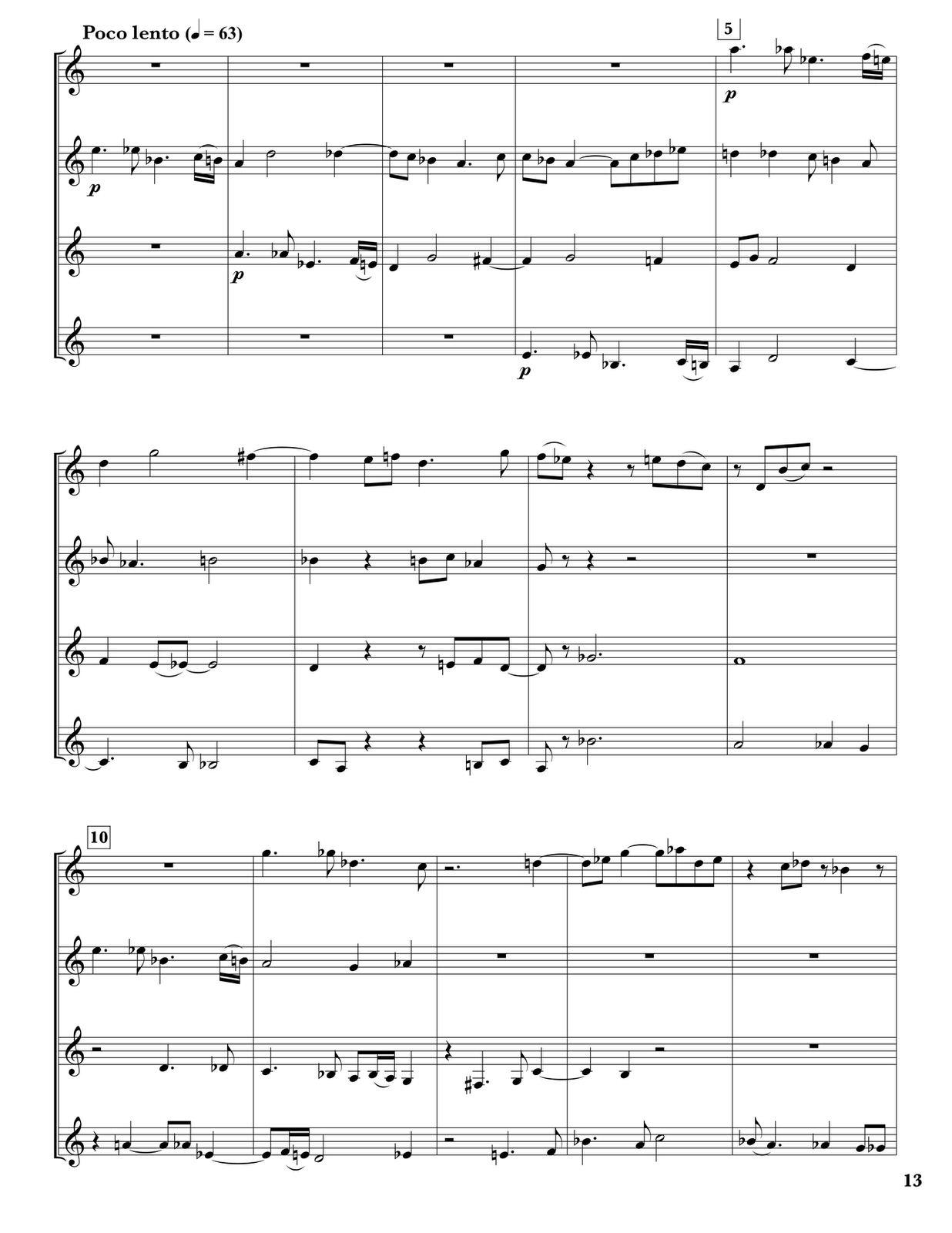 Loeb, David. Partita for Four Trumpets  PDF