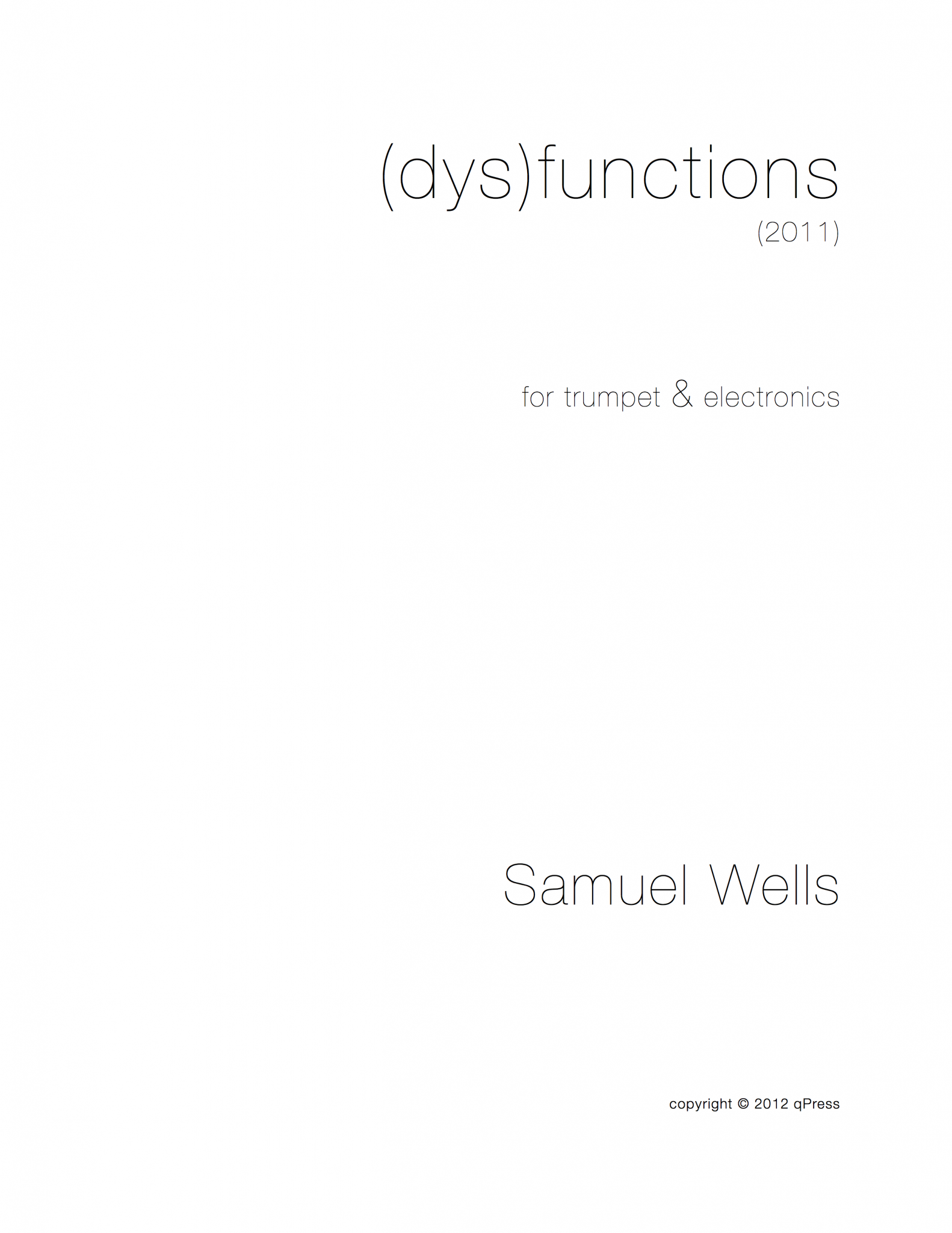 (dys)functions Cover