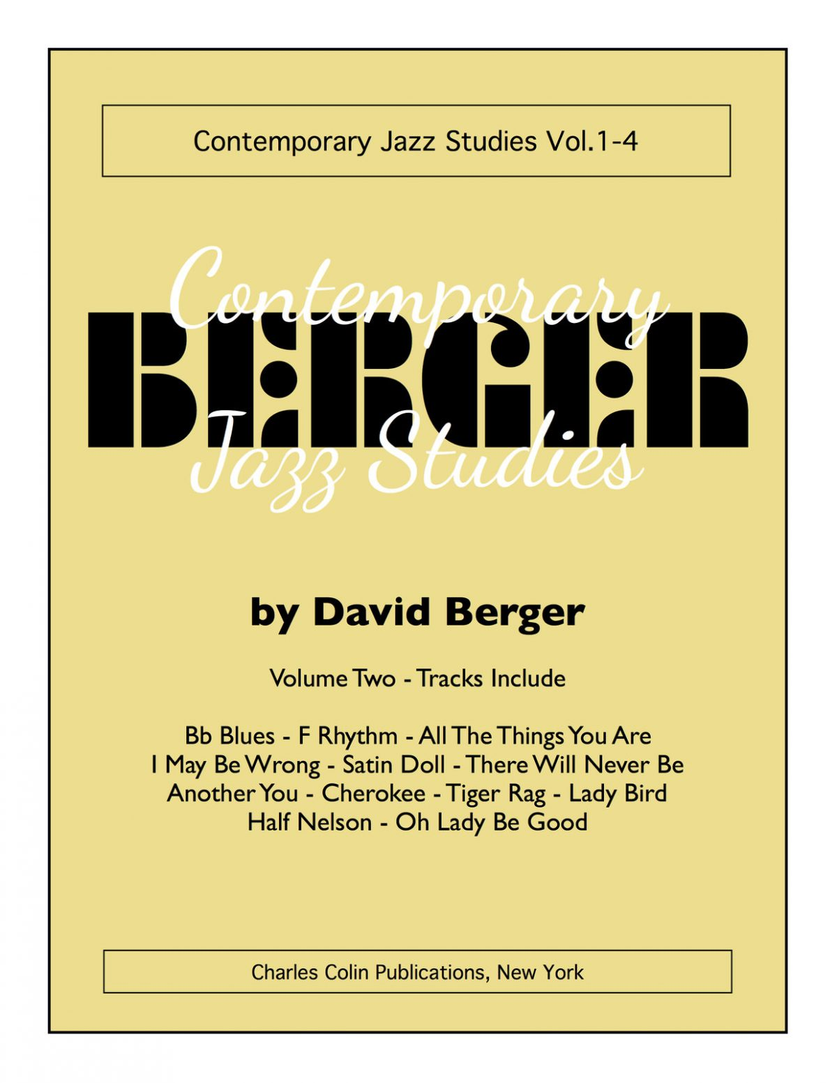 Berger, David Contemporary Jazz Studies V.2