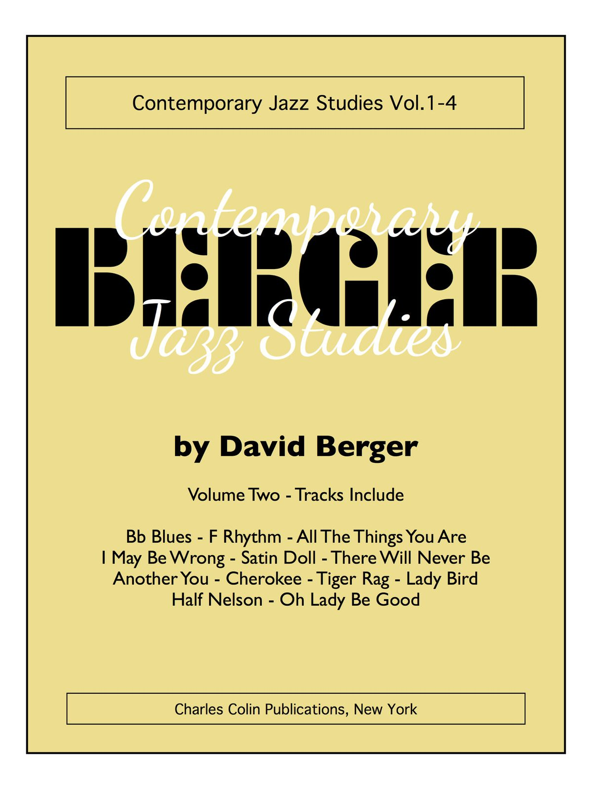 Berger, David Contemporary Jazz Studies V.2