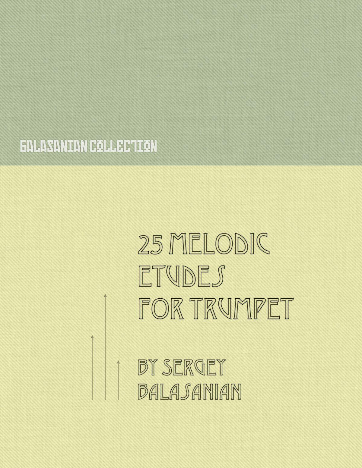Balasanyan, 25 Melodic Etudes