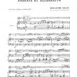 Balay, Andante and Allegro PDF