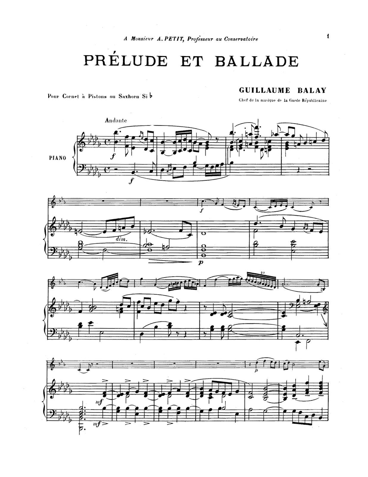 Balay, Prelude and Ballade PDF