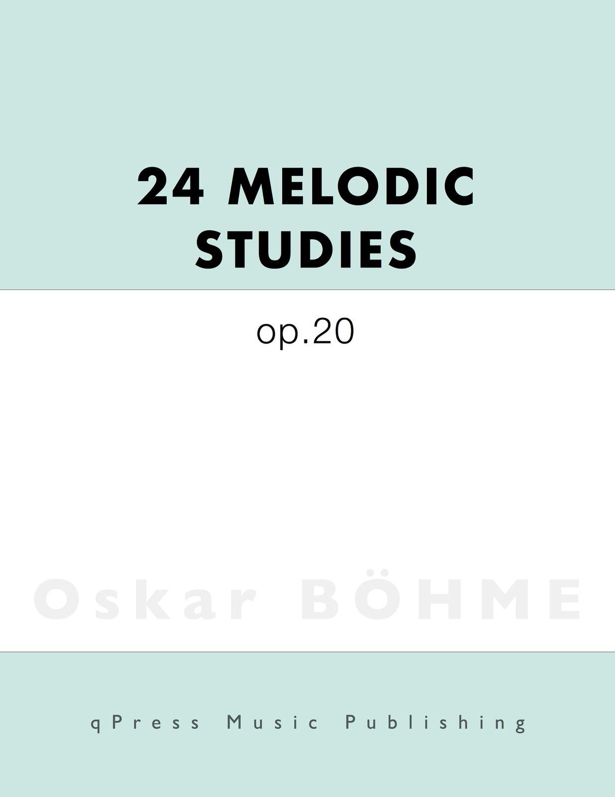 Bohme, 24 Melodic Studies-p01