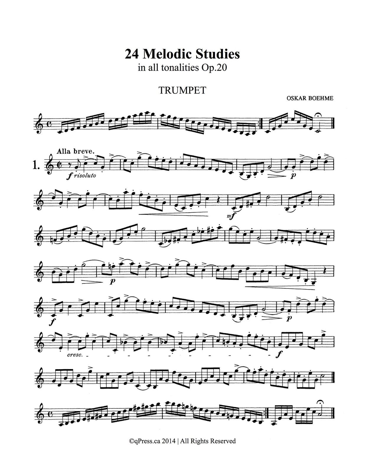 Bohme, 24 Melodic Studies-p02