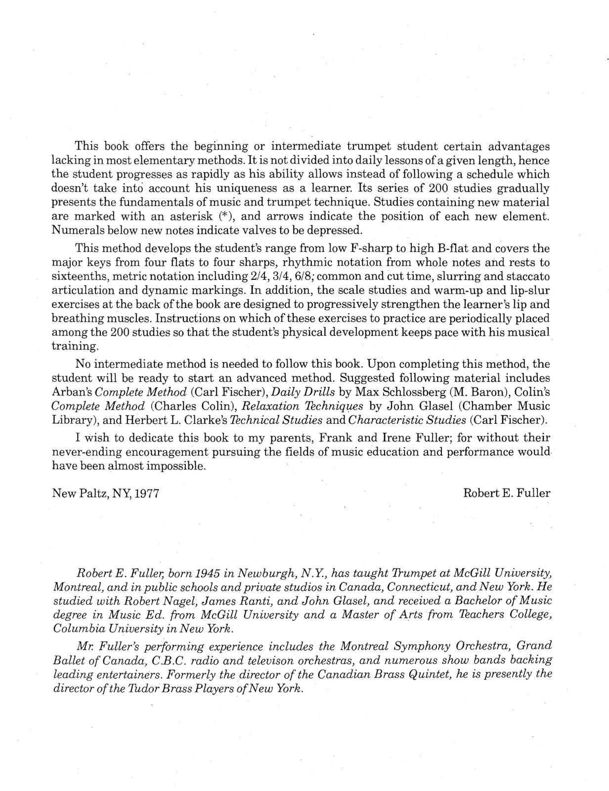 Fuller, Trumpet Method PDF