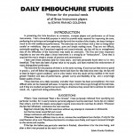 Goldman, EF, Daily Embouchure Studies PDF
