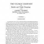 Goldman, Exercises for Double and Triple Tonguing PDF