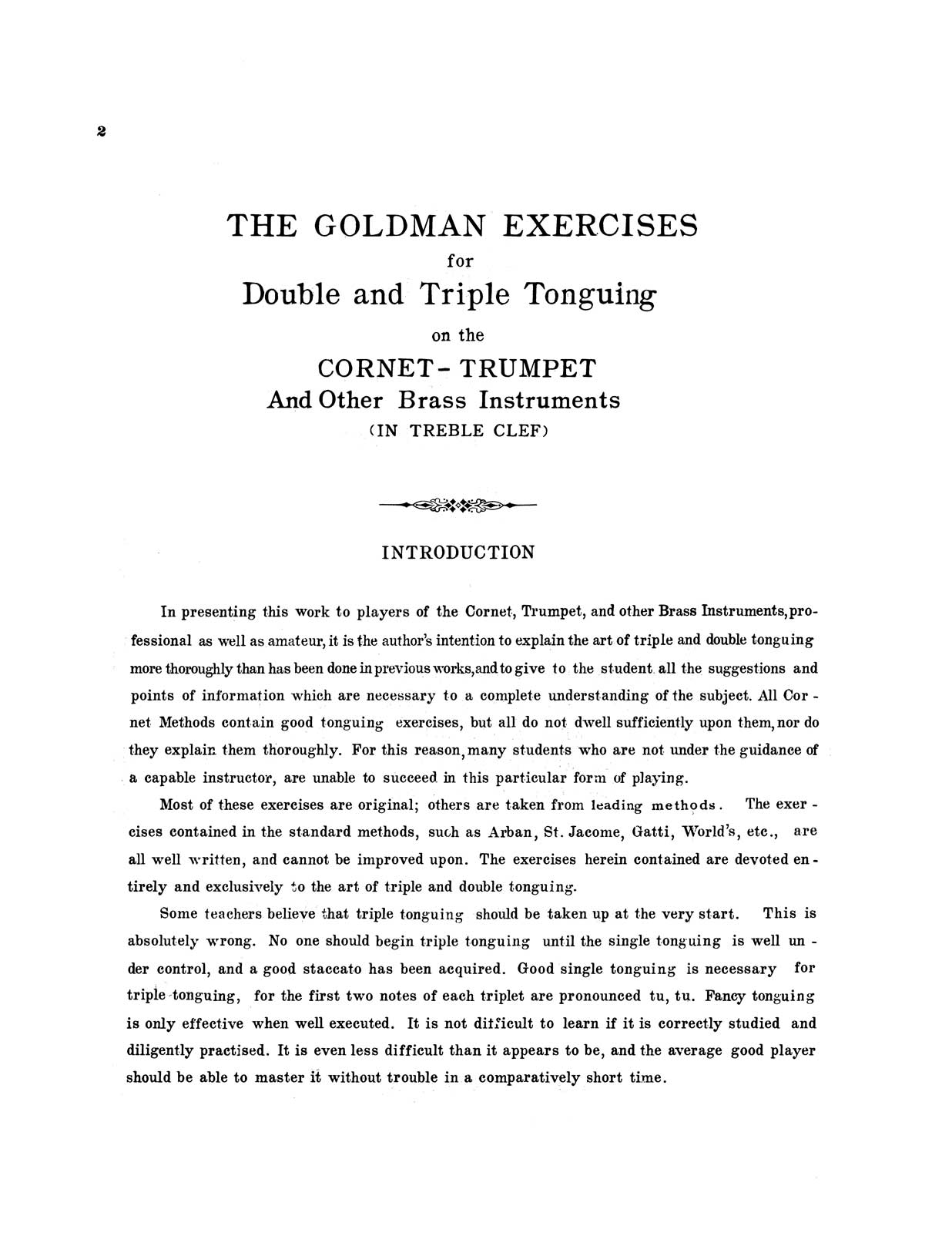 Exercises for Double and Triple Tonguing by Goldman, Edwin Franko | qPress