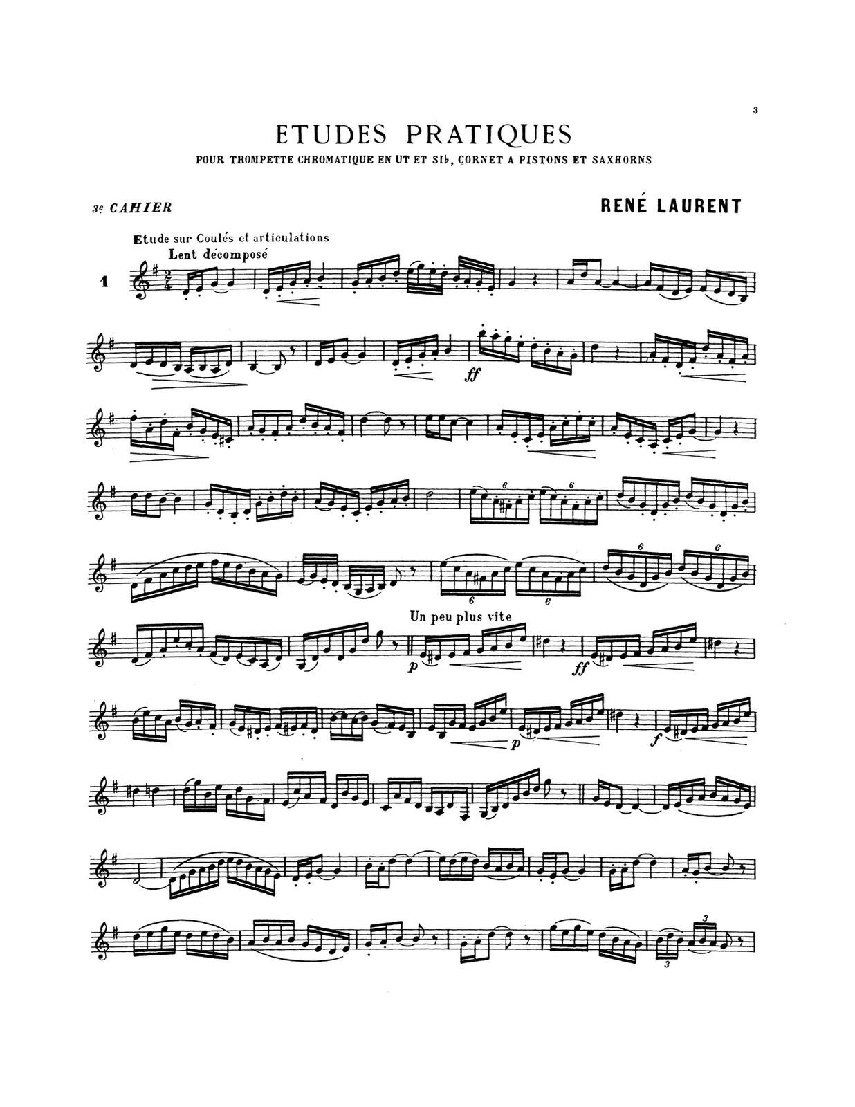 Laurent, Etude Pratiques Vol.3 PDF