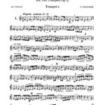 Clodomir, 12 Duets Trumpet 2-p03