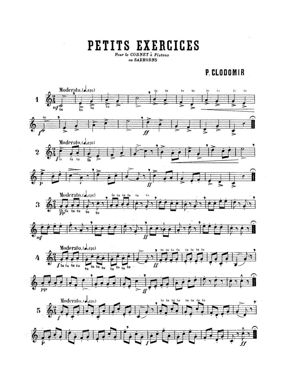 Clodomir, Ecole Moderne Vol.1 Petite Exercices 2