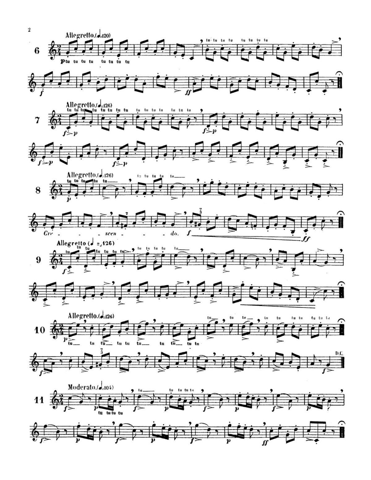 Clodomir, Modern Trumpet School 1, Little Exercises-p04