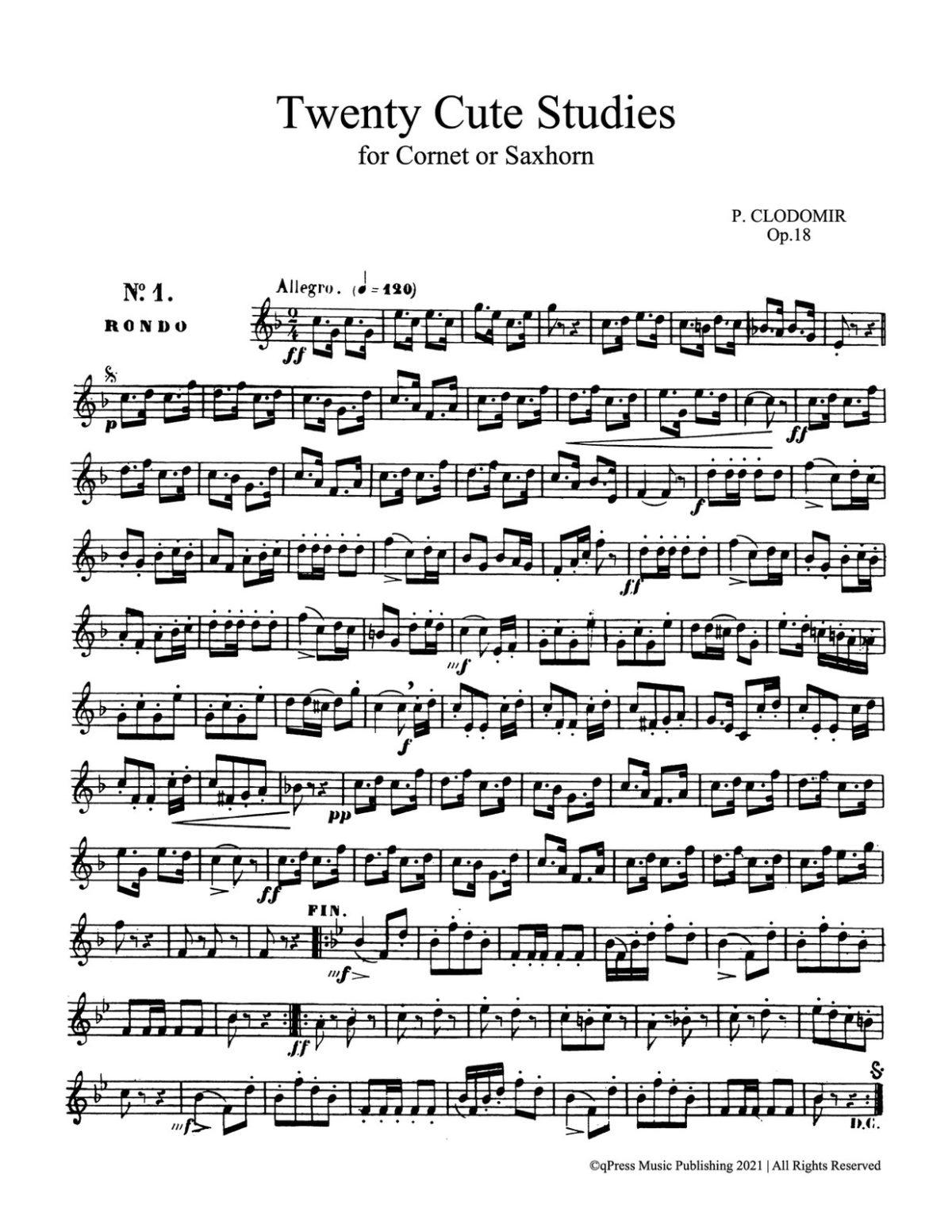 Clodomir, Modern Trumpet School 3, 20 Cute Studies-p02