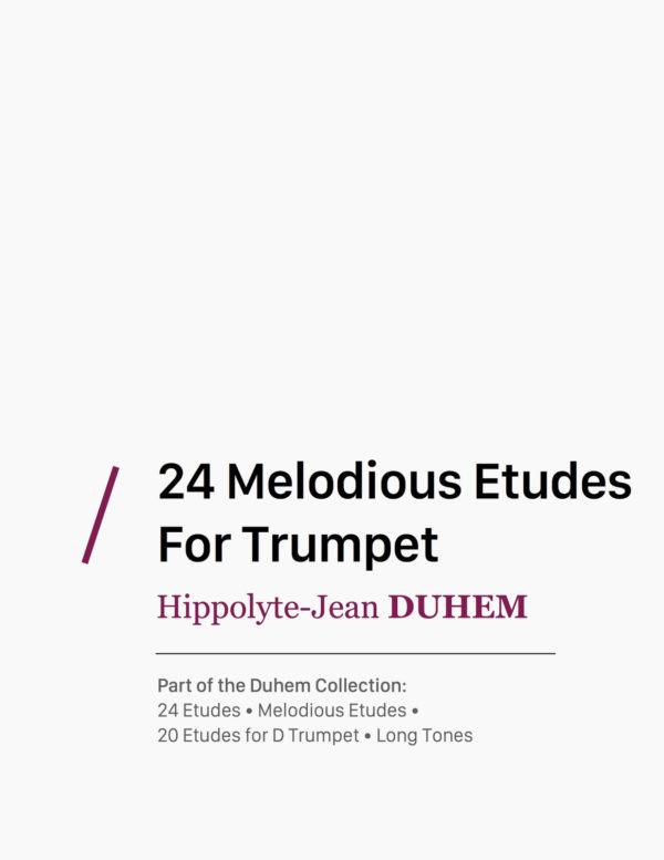 24 Melodious Etudes