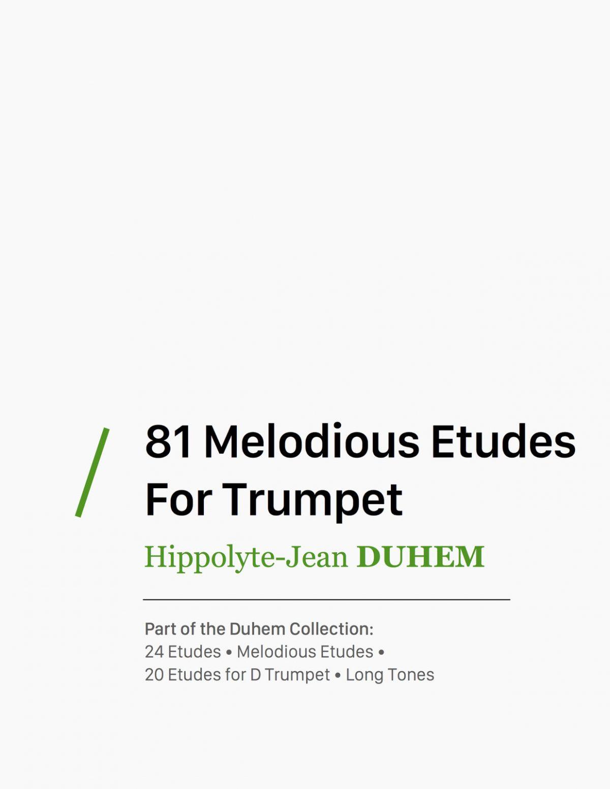 duhem-81-melodious-etudes