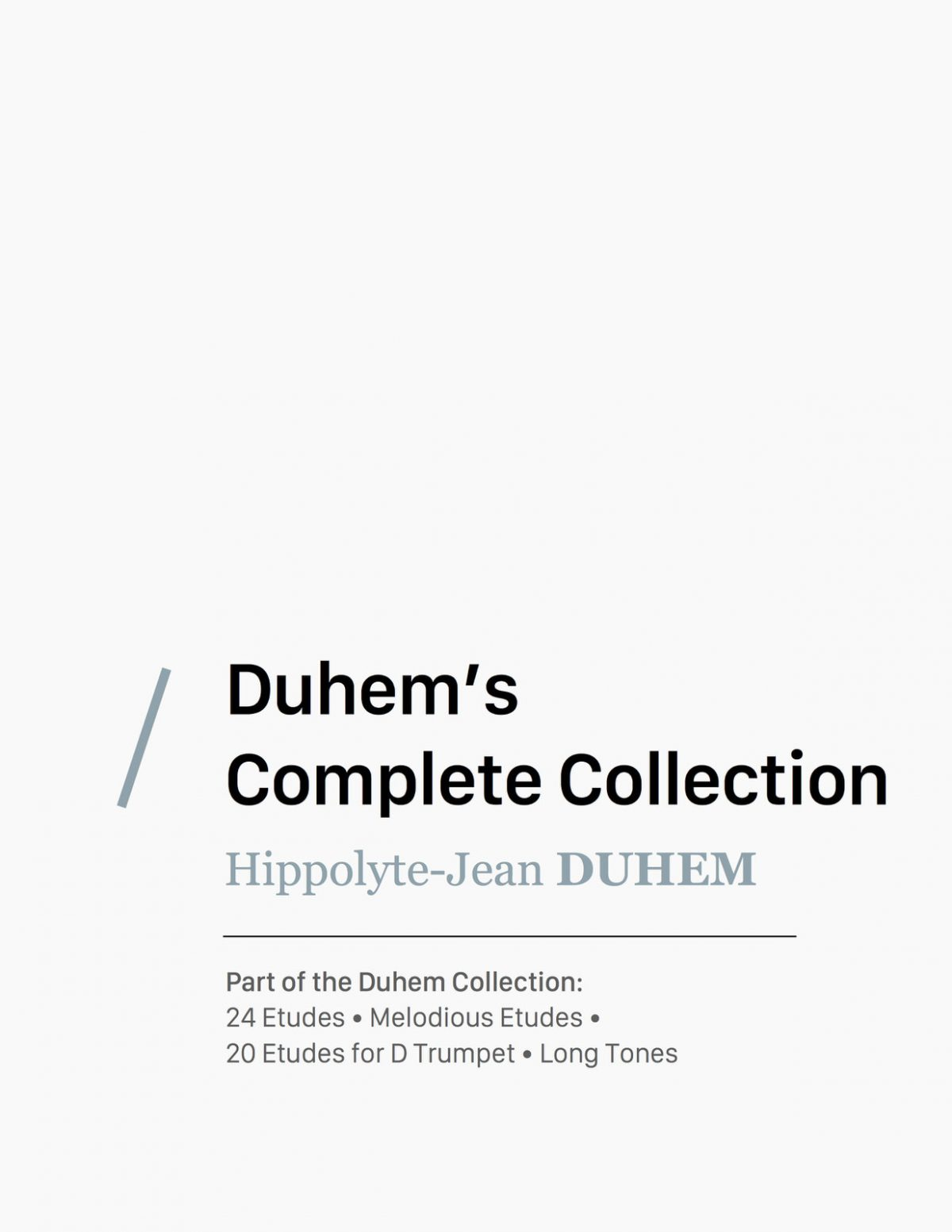 Complete Duhem Collection
