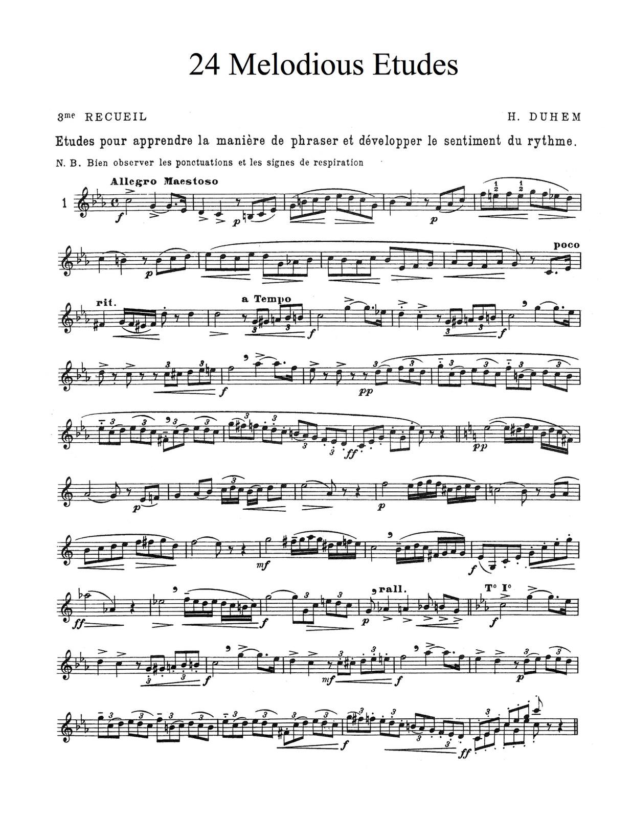 Duhem, Vol.3, 24 Melodious Etudes PDf