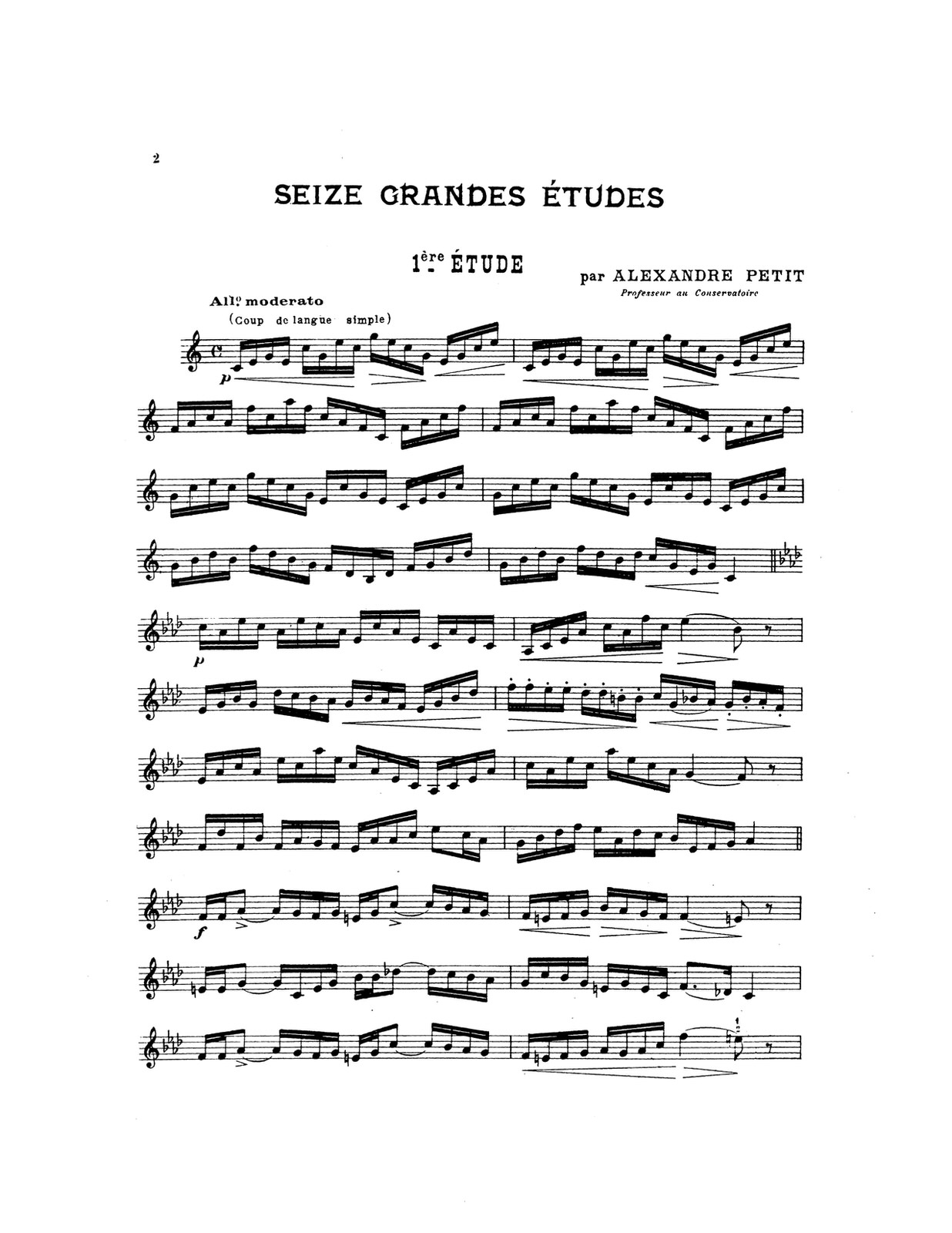 Petit, Seize Grandes Etudes PDF