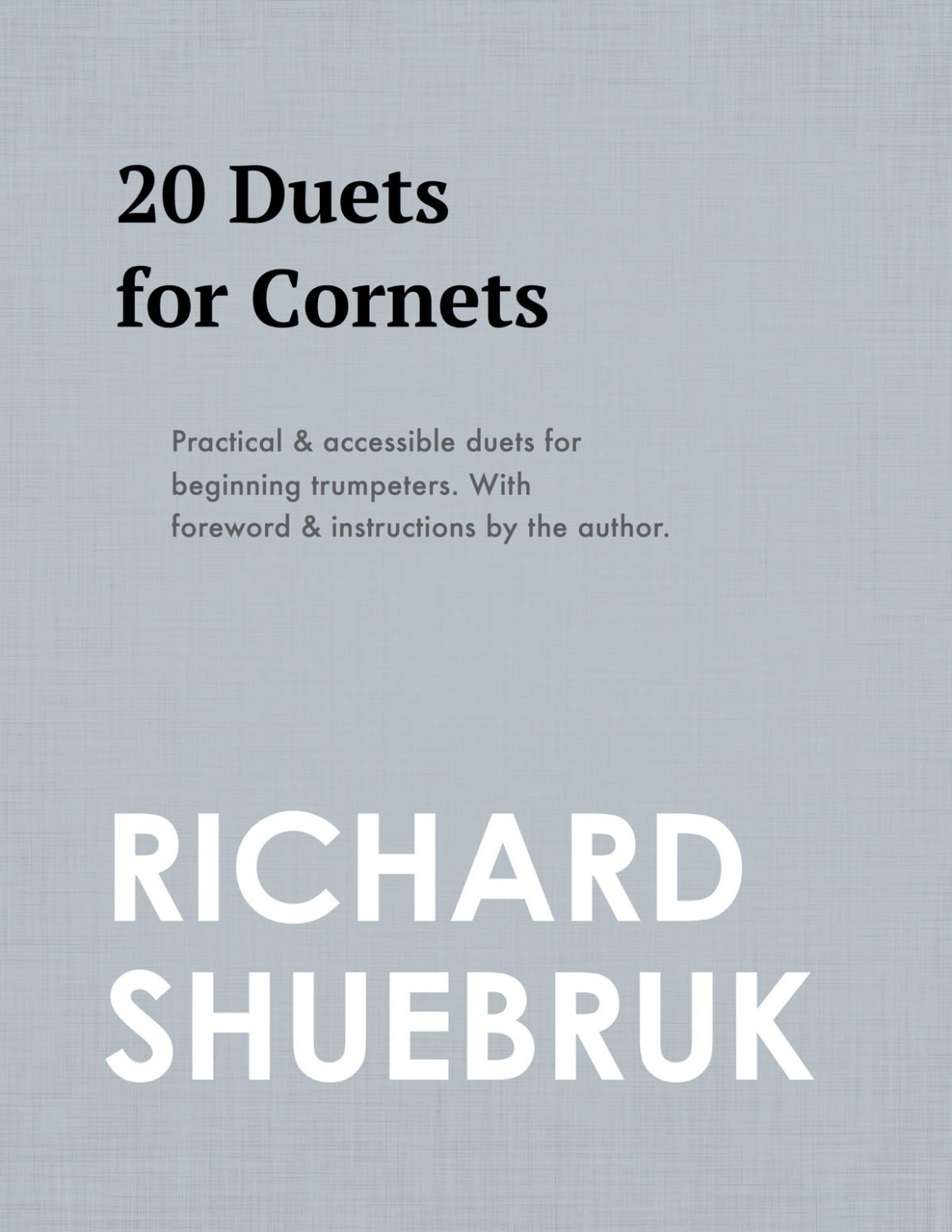 Shuebruk, 20 Duets for Cornets-p01