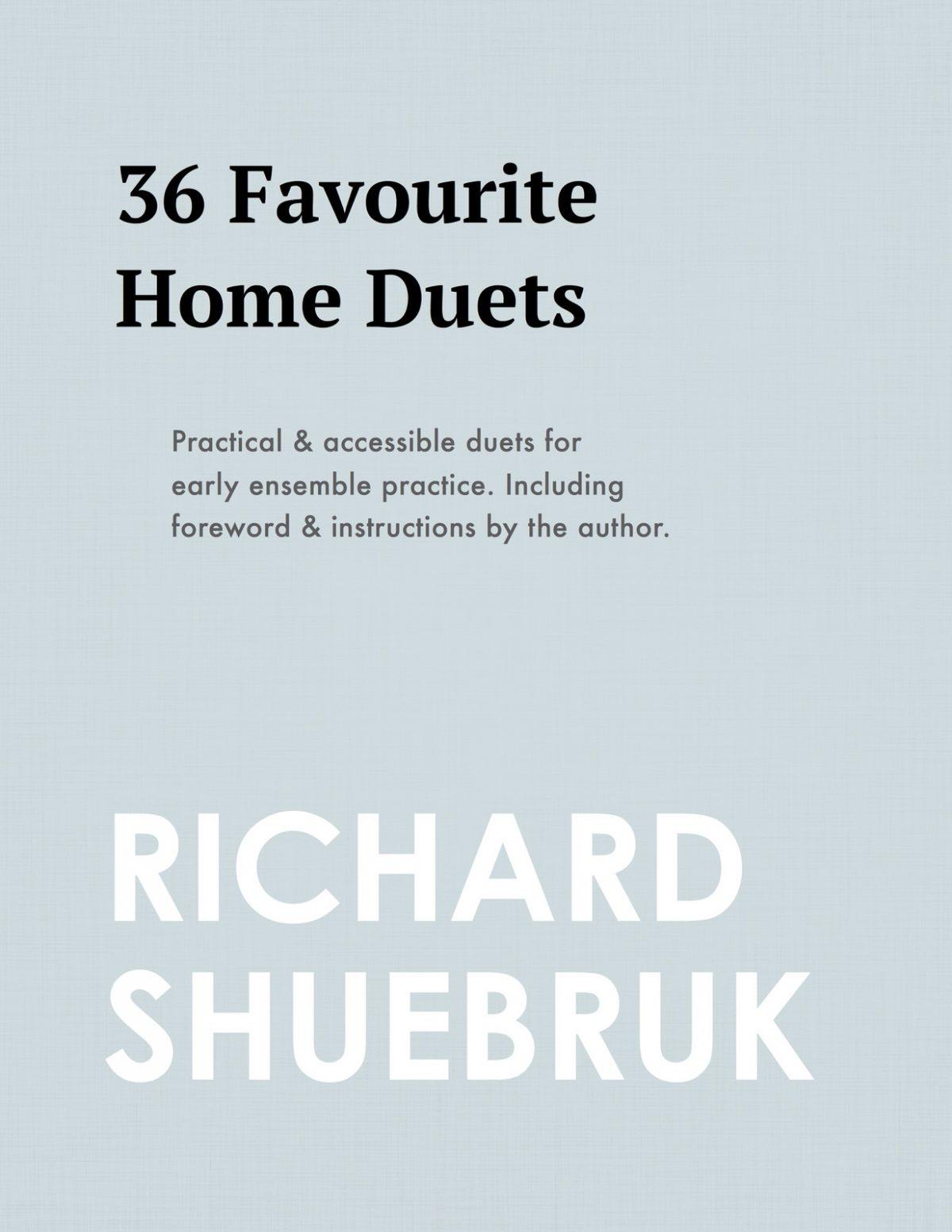 Shuebruk, 36 Favorite Home Duets-p01