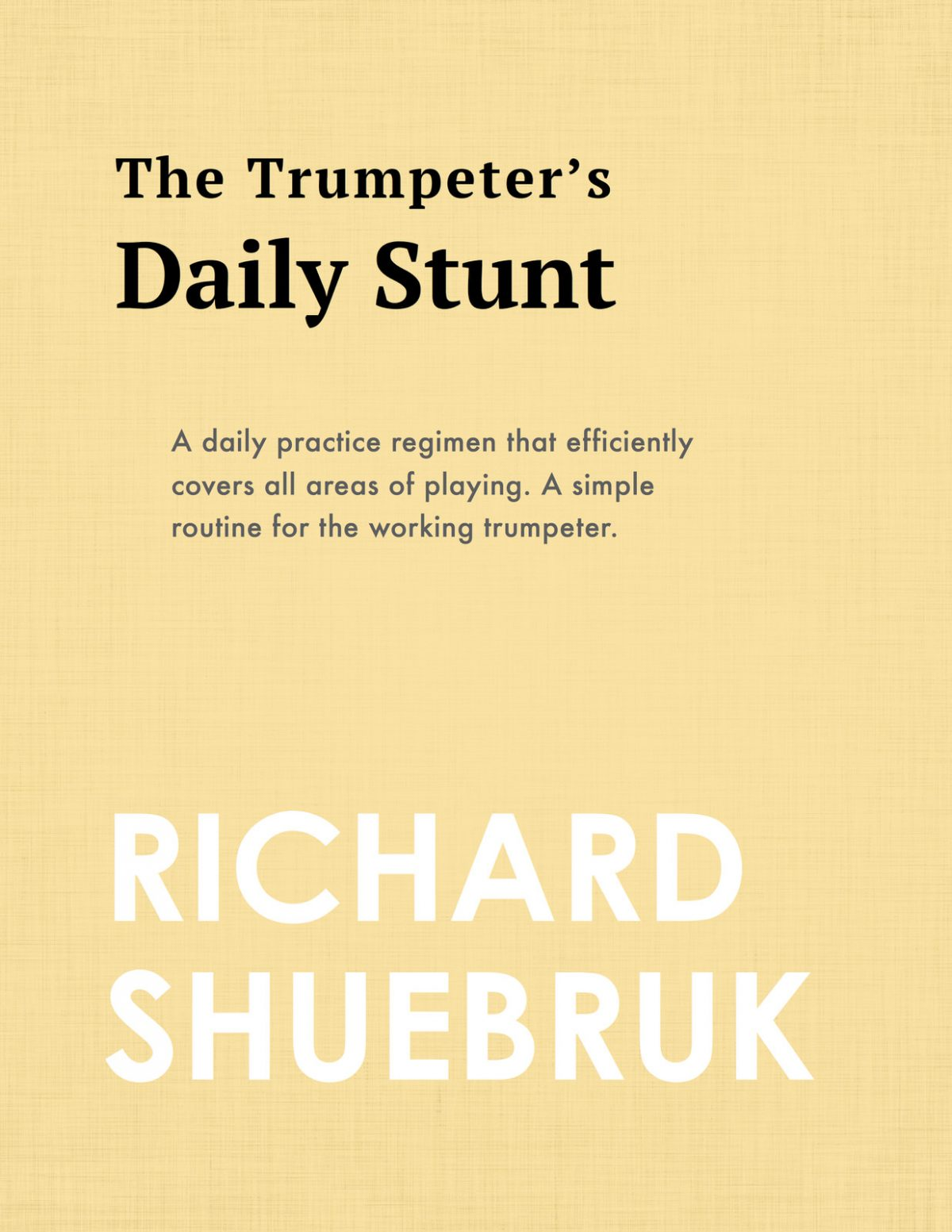 Shuebruk, The Trumpeter's Daily Stunt-p1
