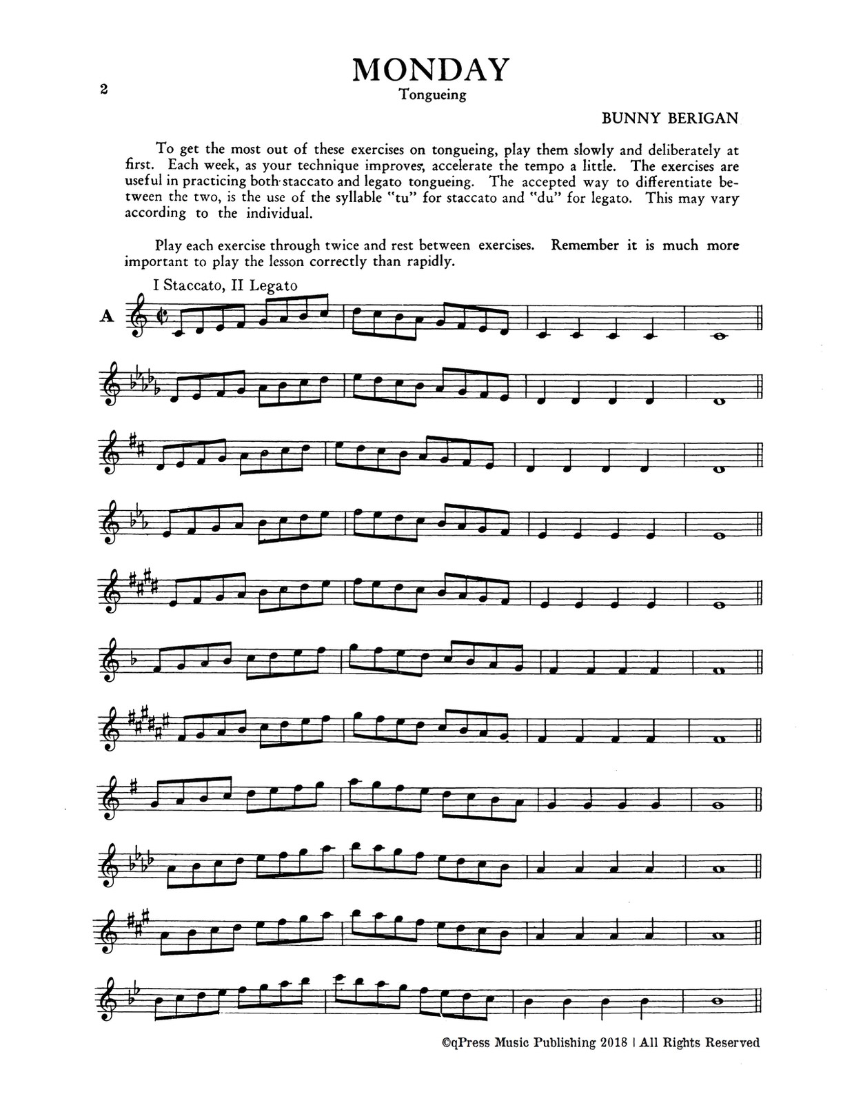 Berigan, Daily Exercises for Trumpet-p04