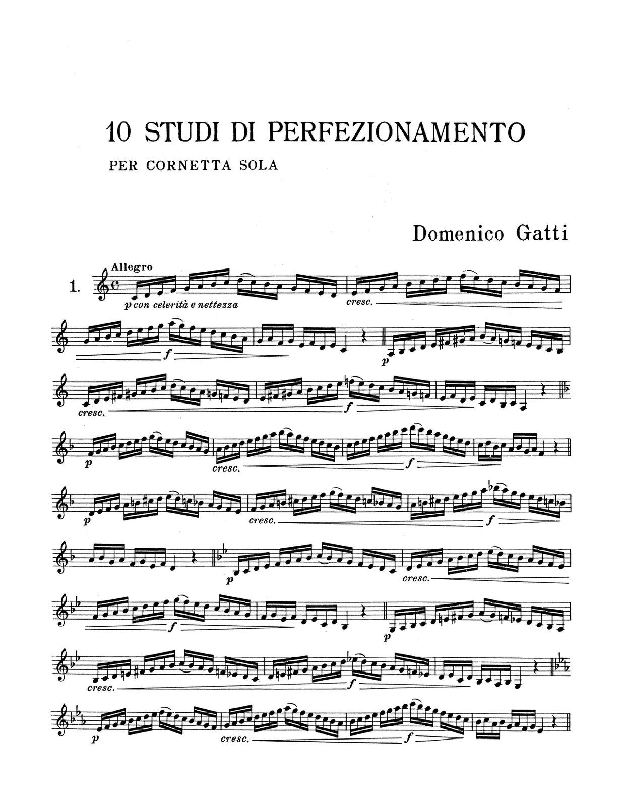 Gatti, 10 Studi Di Perfezionamento PDF