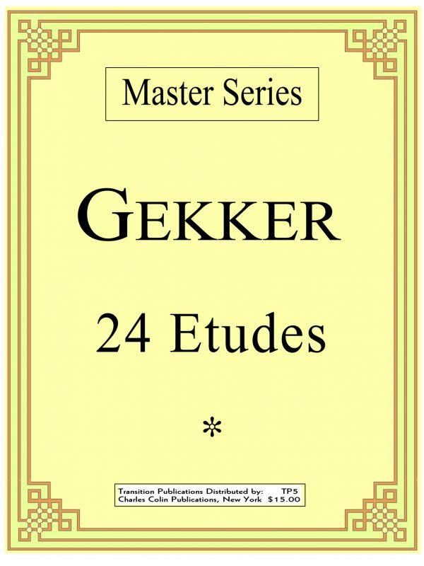 Gekker, 24 Etudes PDF