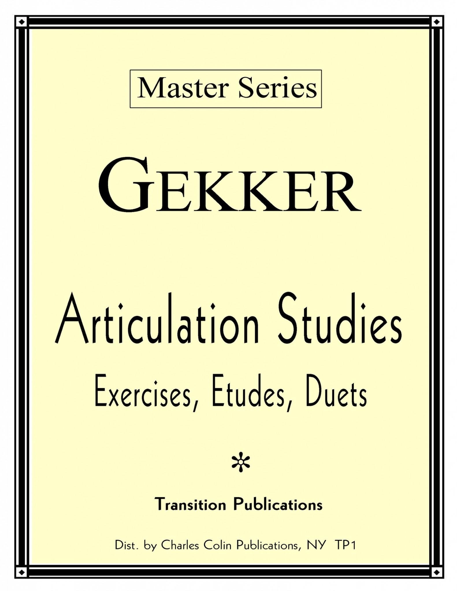 Gekker, Articulation Studies PDF