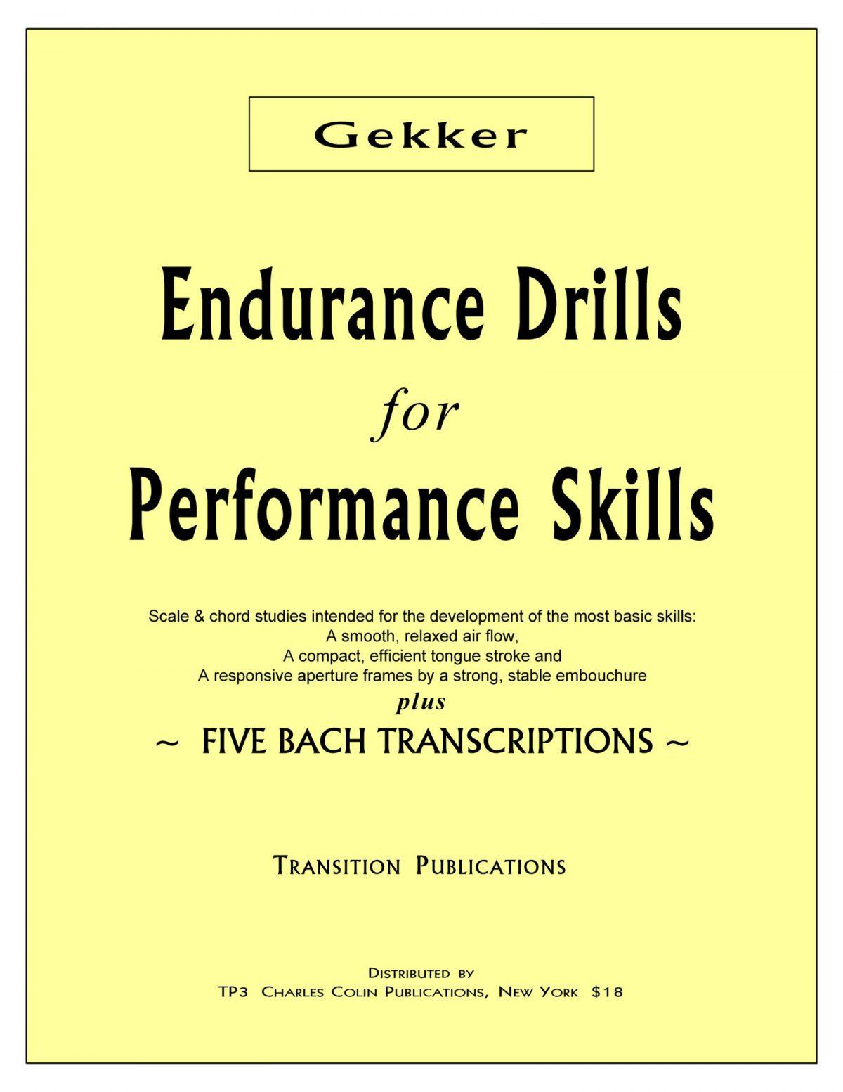 Gekker, Enducance Drills for Performance Skills PDF