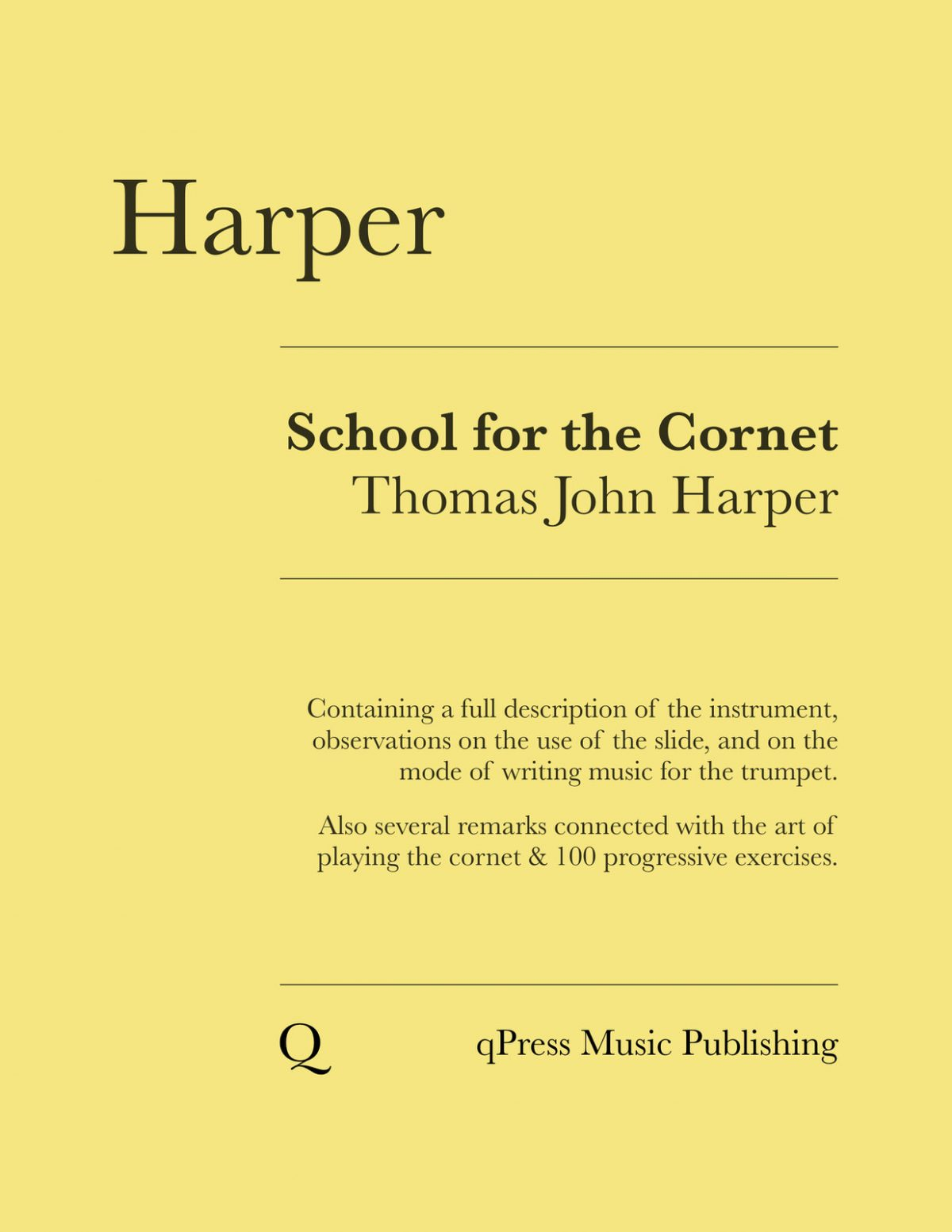 Harper, School for the Trumpet