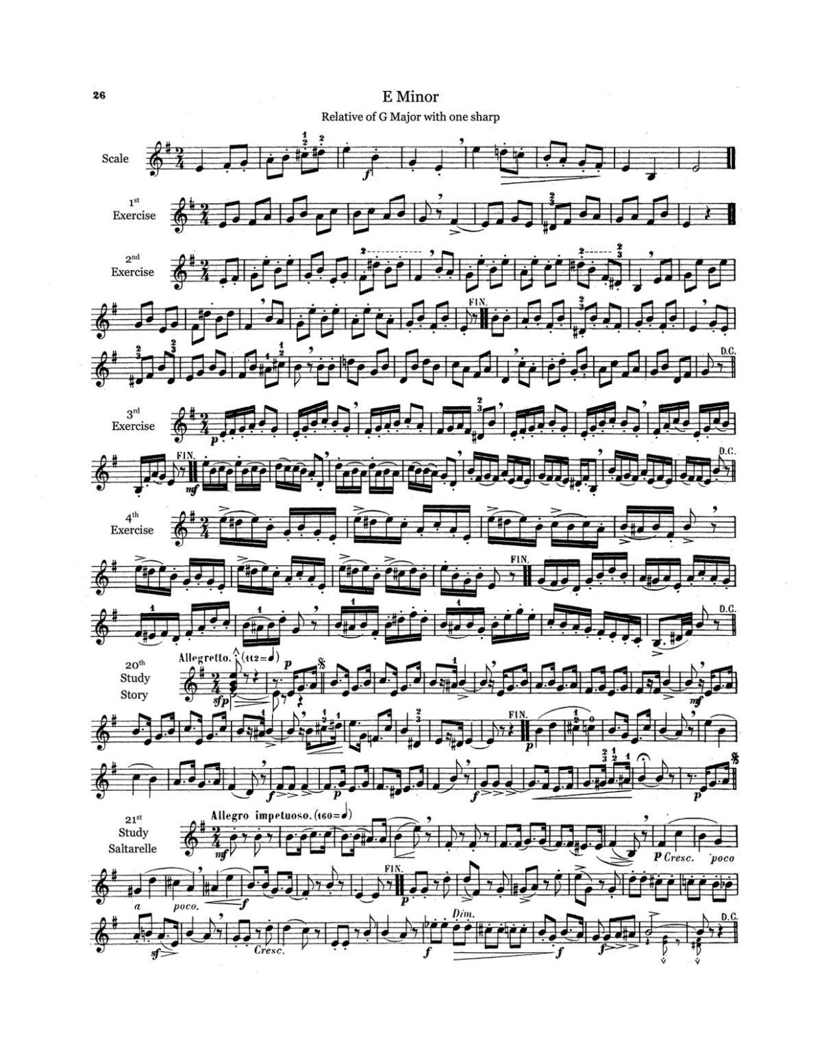 Clodomir, Complete Method for Trumpet or Cornet-p028