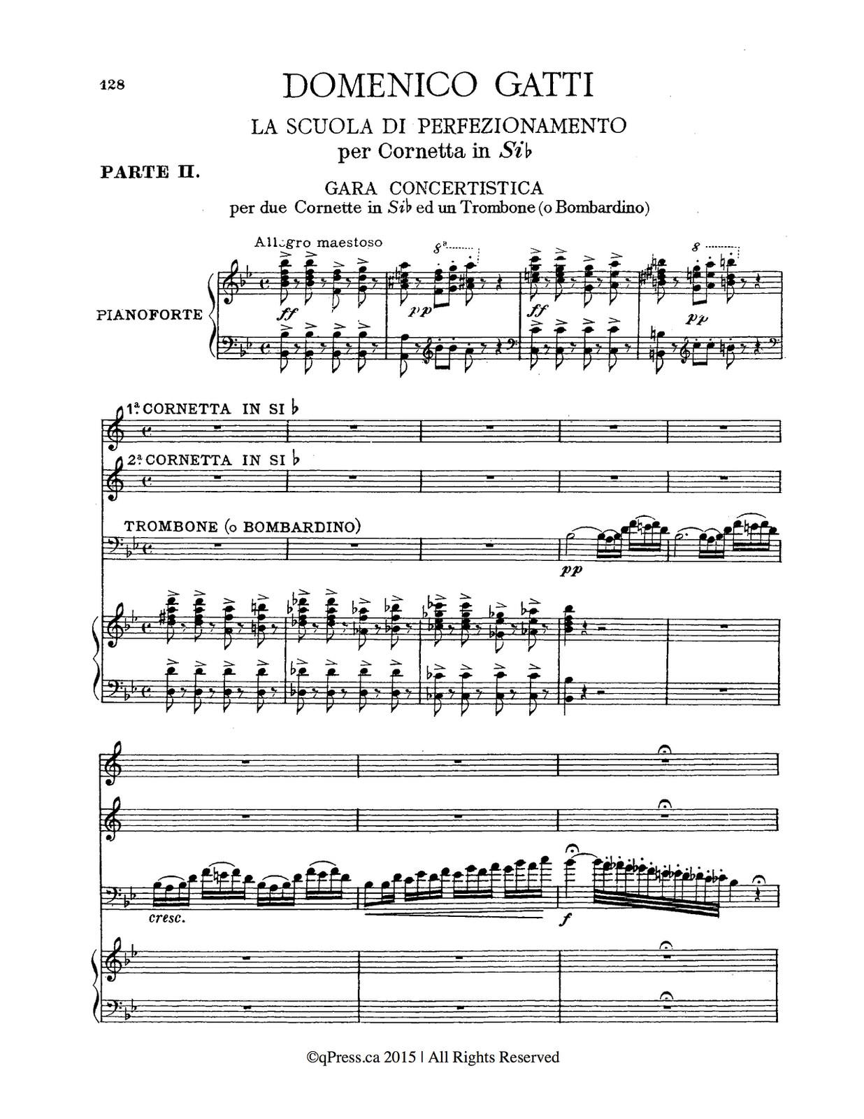 Gatti, La Scuola Di Perfezionamento Complete, Piano Score 2-1