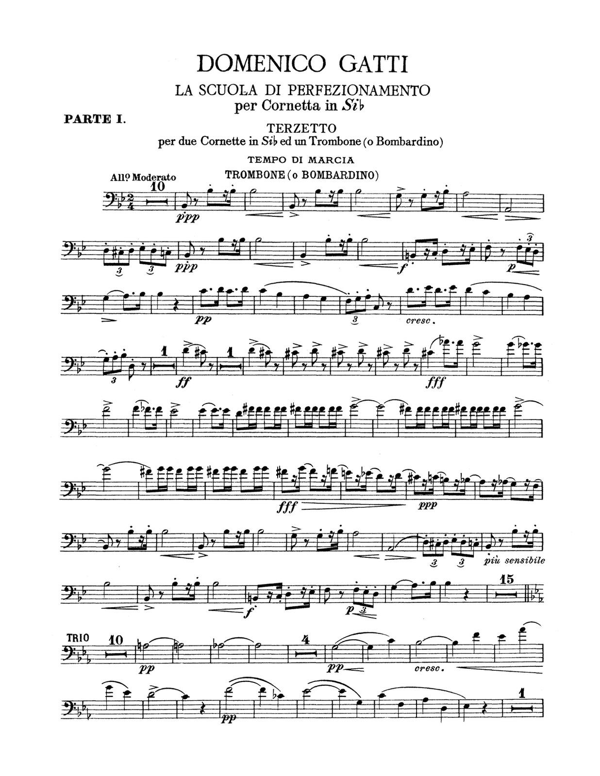 Gatti, La Scuola Di Perfezionamento Vol 1, Trombone 3
