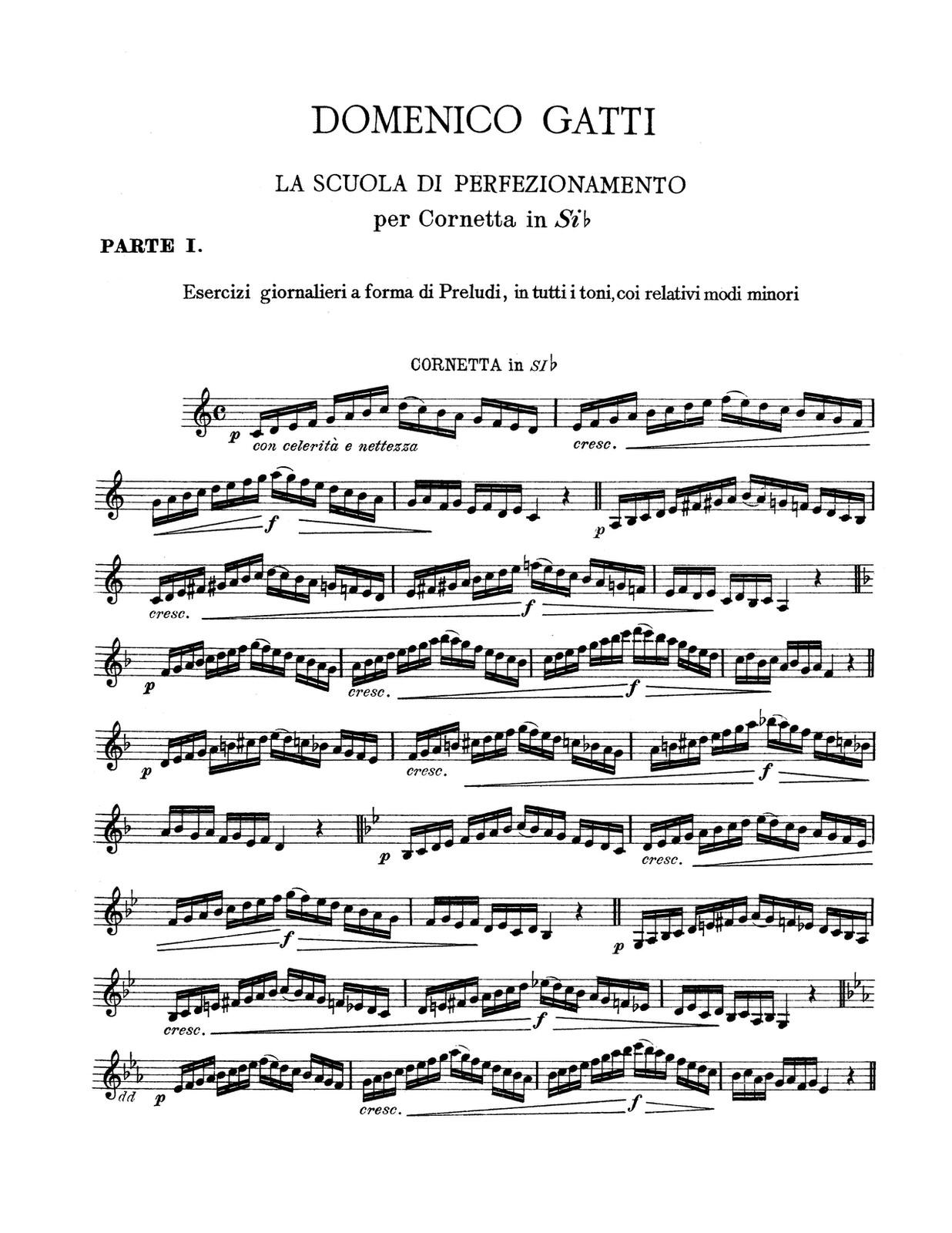 Gatti, La Scuola Di Perfezionamento Vol 1, Trumpet 2
