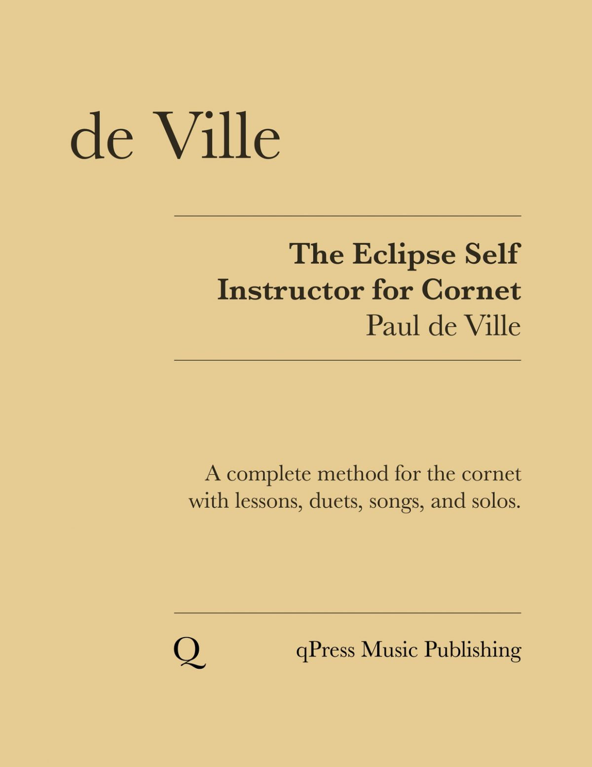 De Ville, Paul, The Eclipse Self Instructor for Cornet-p01