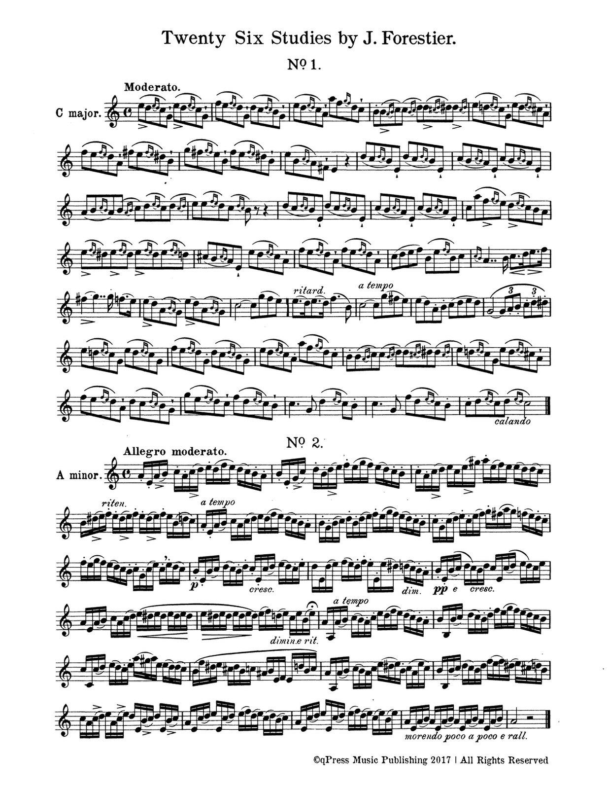 Forestier, 26 Studies for Trumpet 2