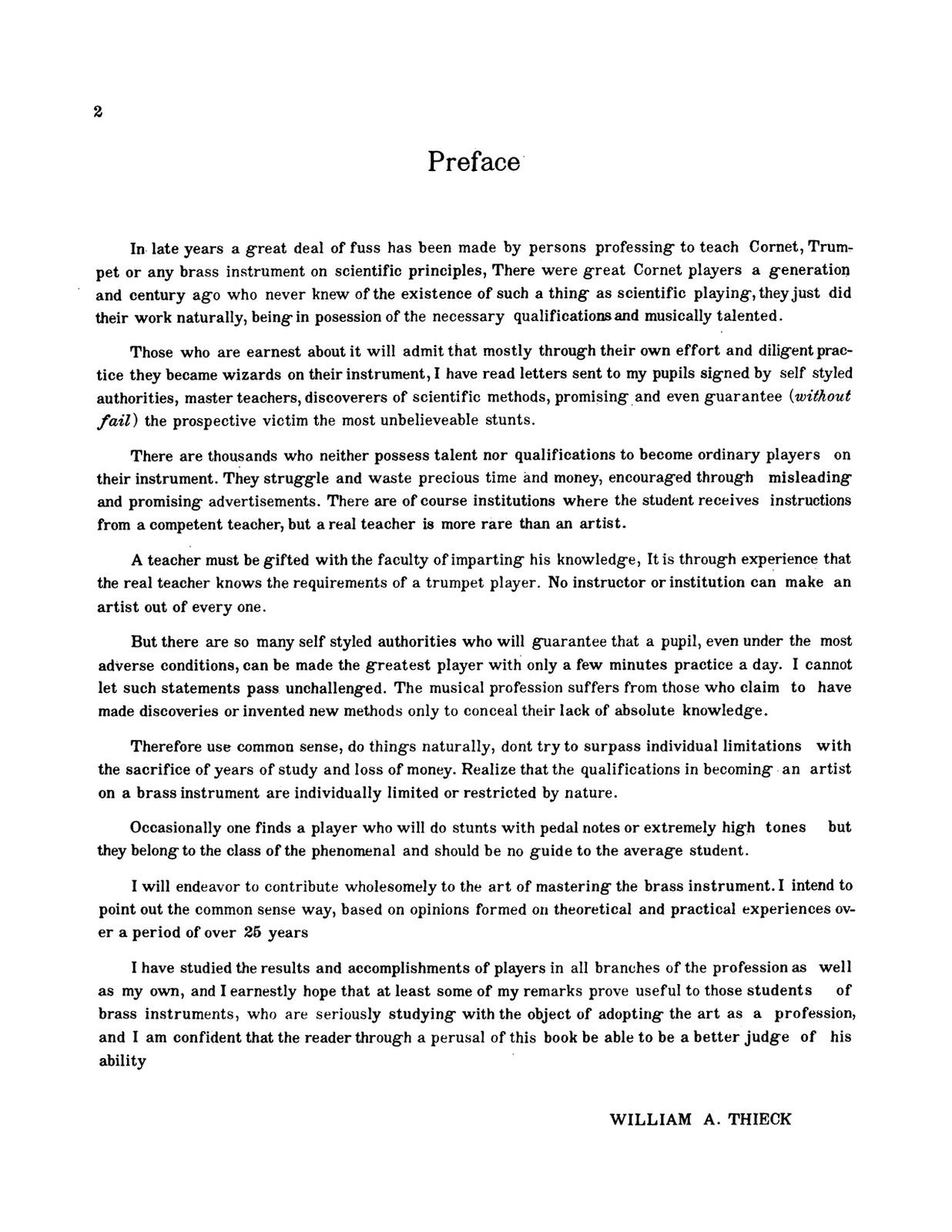 Thieck, William Common Sense Lip and Tone Development 2