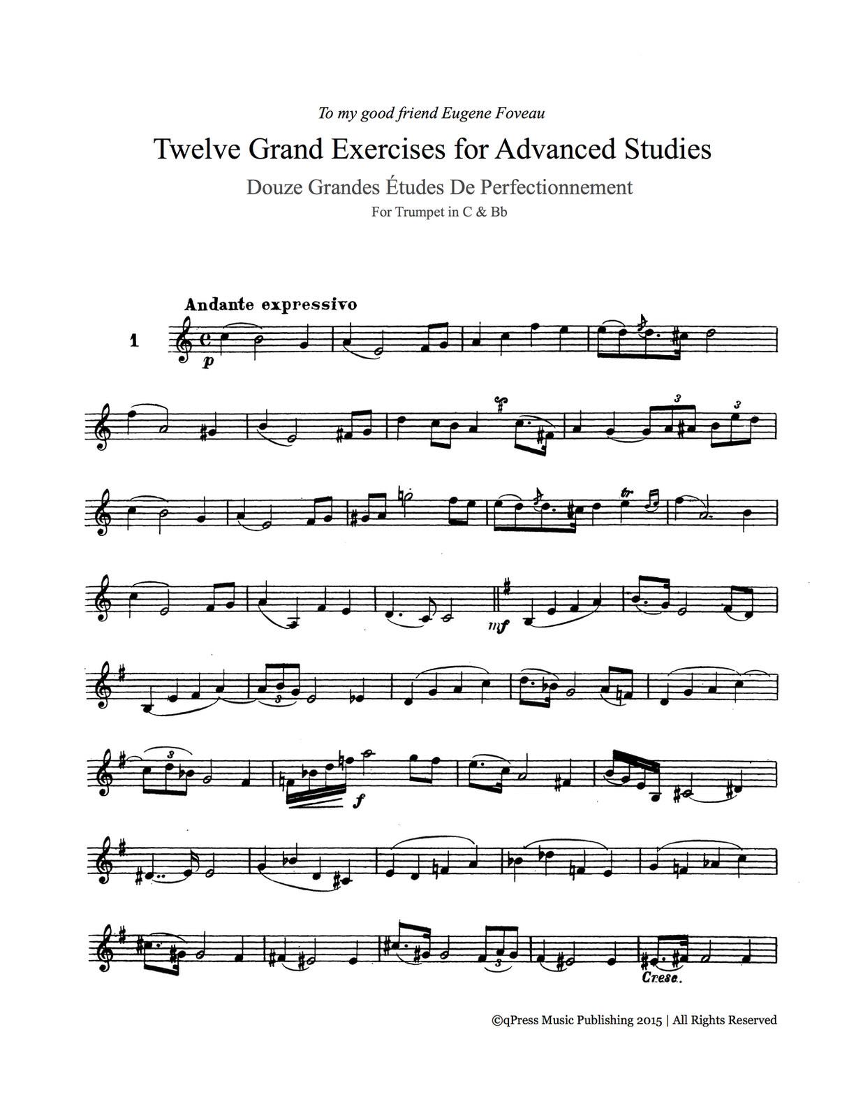 Bizet, 12 Grand Exercises for Advanced Studies 2