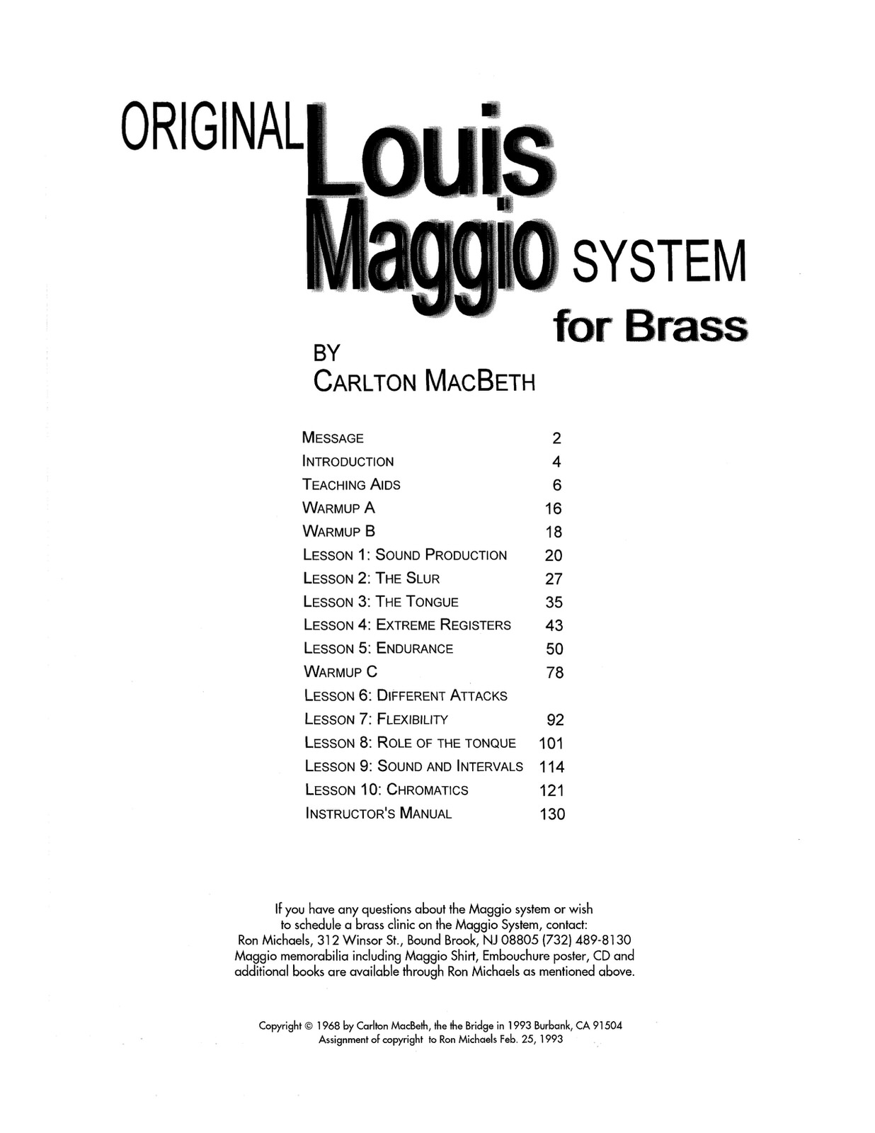 Maggio, System For Brass 2