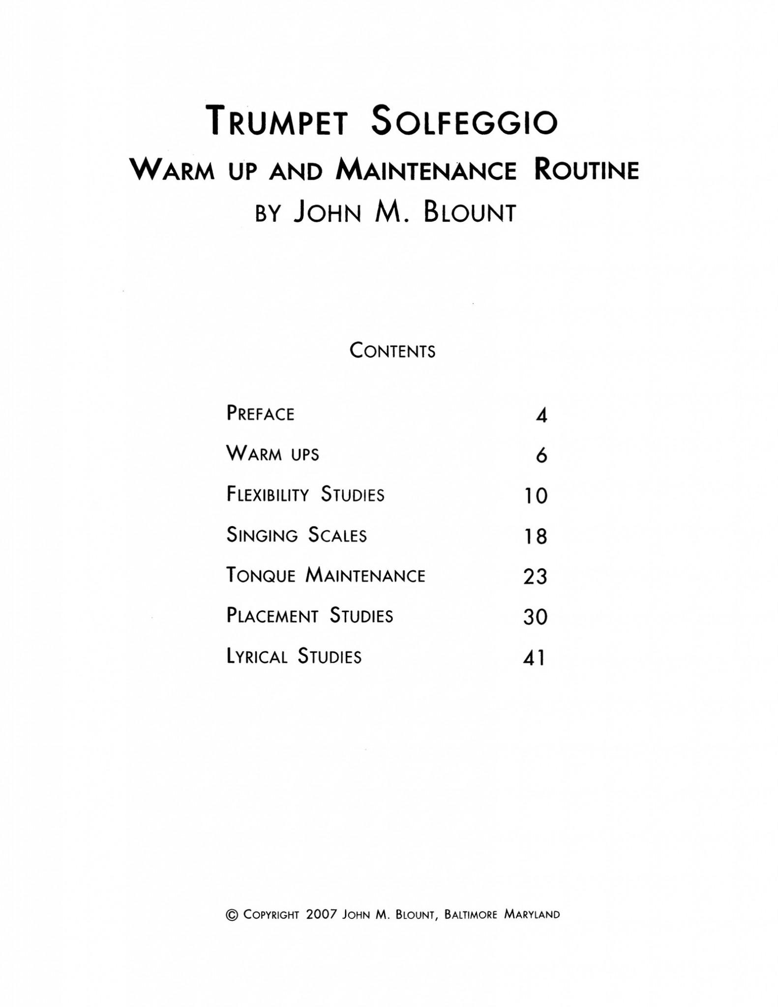 Blount Tpt Solfeggio 3