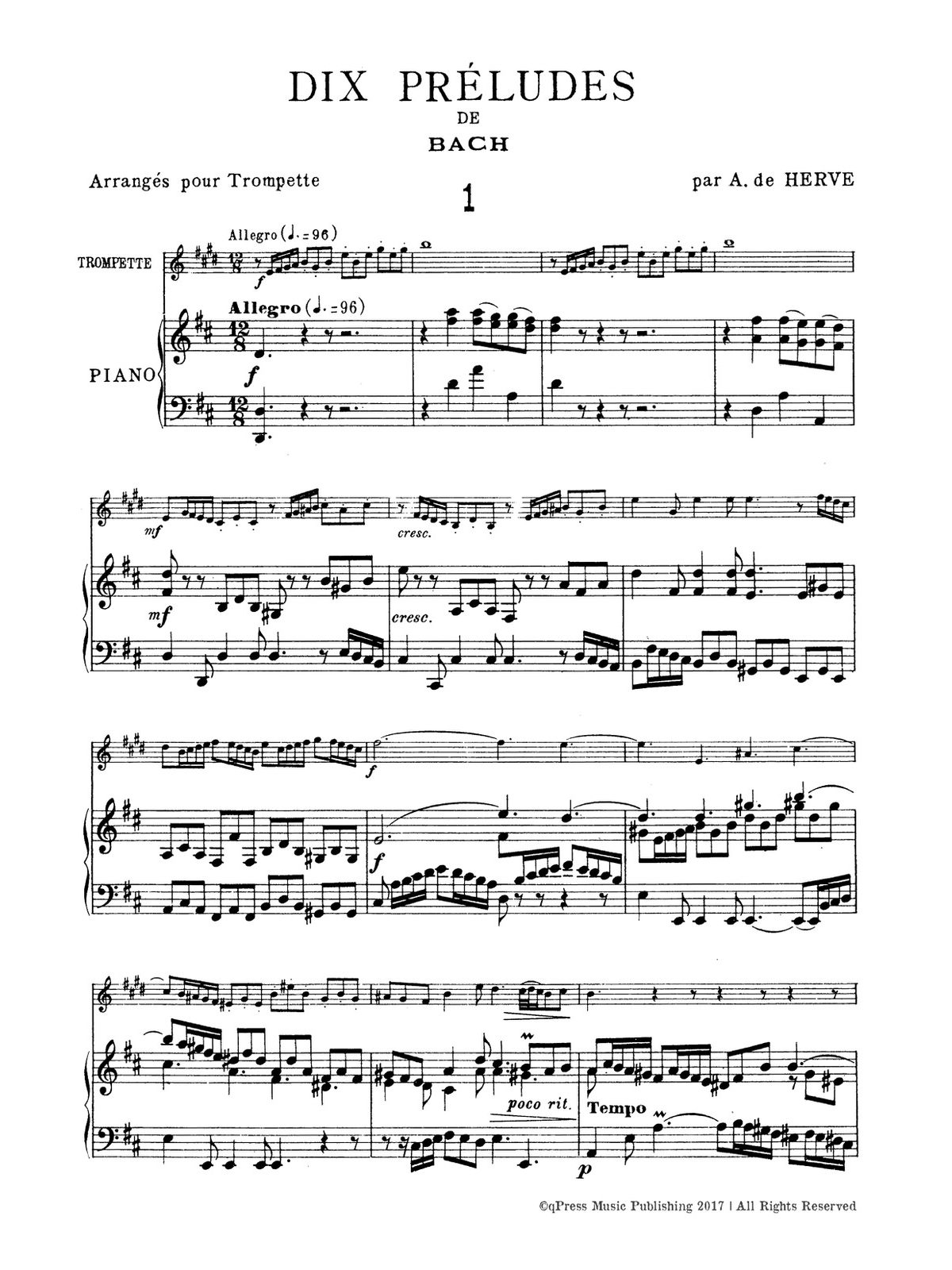 10 preludes pdf bach trumpet