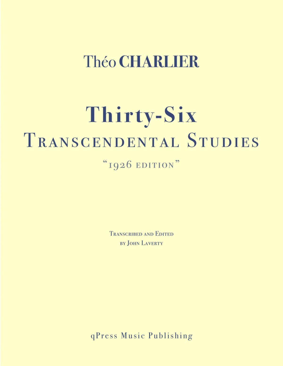 1926 Charlier Etudes Transcendantes